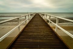 Torquay pier in Hervey bay in Queensland, Australia royalty free stock photography