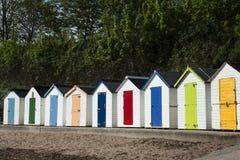 Torquay plaży budy Obrazy Royalty Free