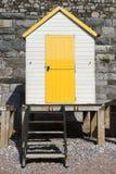 Torquay plaży budy Zdjęcie Royalty Free