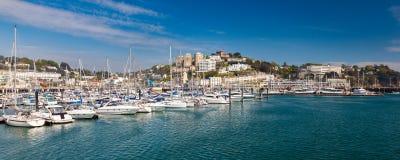 Torquay schronienie Devon Anglia UK & Marina Obrazy Royalty Free