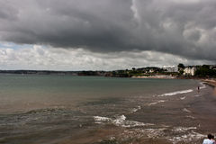 Torquay shore. High-contrast colors on the Torquay shore, UK Royalty Free Stock Photos