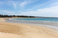 Torquay主要海滩- Torquay维多利亚澳大利亚 库存照片