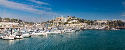 Torquay Harbour & Marina Devon England UK Royalty Free Stock Images