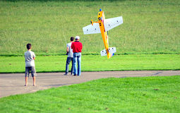 Torque Roll with a Model-plane. A torque roll with a model-plane during a flight-show in Laichingen (South-Germany Stock Photography