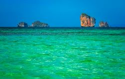 Torquise sea on the coast of Thailand Royalty Free Stock Image