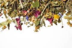 Torr örtte En variation av doftande örter för att brygga te Top beskådar royaltyfri foto