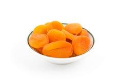 Torr aprikos. Hög av isolerade frukter Fotografering för Bildbyråer