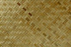 Torr bambuvävtextur och asiatisk modellträdnatur Royaltyfri Foto