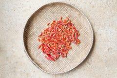 torr chili Arkivbild