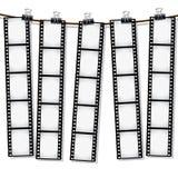 torr film som ut hänger remsor till vektor illustrationer