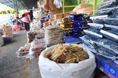 Torr fiskmarknad Arkivbild