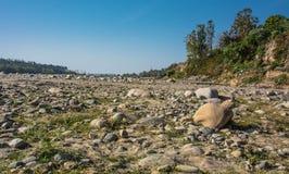 Torr flod Arkivfoton