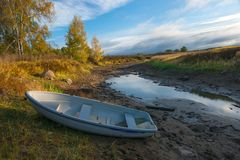 torr flod Royaltyfri Bild