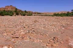 Torr flod i Marocko fotografering för bildbyråer