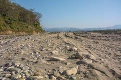 torr flod i morgon Royaltyfri Foto