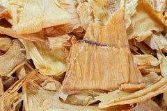 Torr gypsum eller den torkade soybeanen mjölkar, arkivbild