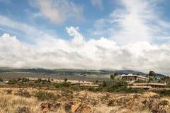 Torr Hawaian landsape i Kihei, Maui royaltyfria bilder