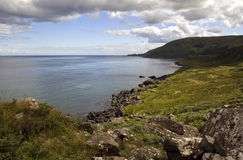 Torr Head across Murlough Bay, Antrim Coast. Northern Ireland stock photo