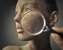 torr hud Fotografering för Bildbyråer