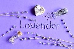 Torr lavendel blommar collage Royaltyfri Fotografi
