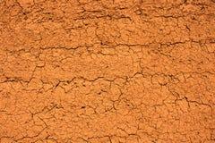 torr mud texturerad vägg Royaltyfri Foto