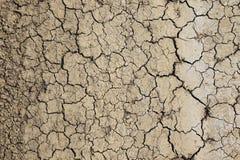 Torr och sprucken jord Arkivfoto