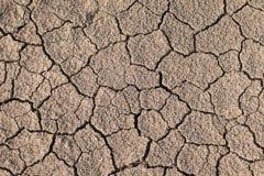 Torr och sprucken jordtextur Global klimatförändring Arkivbild