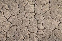 Torr och sprucken jordtextur Global klimatförändring Royaltyfria Bilder