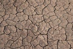 Torr och sprucken jordtextur Global klimatförändring Royaltyfria Foton