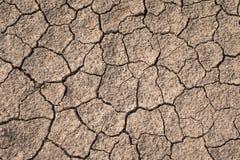 Torr och sprucken jordtextur Global klimatförändring Royaltyfri Fotografi