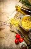 torr pasta Arkivfoton