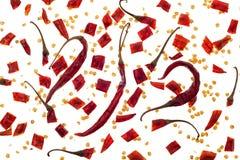 Torr röd chilibakgrund Arkivbild