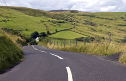 Torr Road and Carnanmore, Antrim County. Torr Road, Antrim County, Northern Ireland stock image