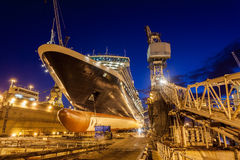 Torr skeppsdocka, Bahamas Arkivbilder