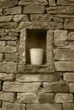 Torr-sten vägg Arkivbild