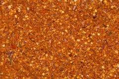 Torra glödheta peppar för jordning Arkivfoto