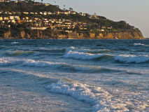 Torrance Beach och Palos Verdes Peninsula, Kalifornien Fotografering för Bildbyråer