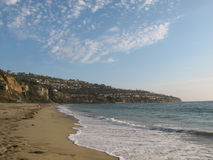 Torrance Beach and the Palos Verdes Peninsula, California. The Palos Verdes Peninsula can be viewed from Torrance Beach, located in the South Bay of Los Angeles Royalty Free Stock Photo