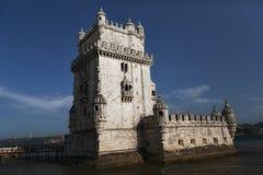 Torre在守卫耳鼻喉科的塔霍河的de贝拉母(贝伦塔) 免版税库存照片