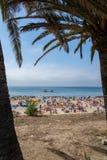 Torre海滩在Oeiras,葡萄牙 免版税图库摄影