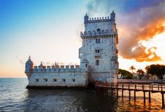 Torre του Βηθλεέμ, Λισσαβώνα, Πορτογαλία Στοκ εικόνα με δικαίωμα ελεύθερης χρήσης