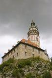 Torre 1 del castillo francés de Cesky Krumlov Fotografía de archivo libre de regalías