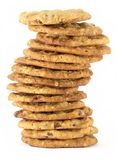 Torre 2 de la galleta de viruta de chocolate Foto de archivo