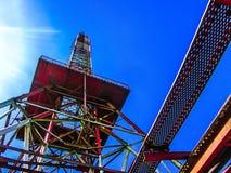 Torre abbandonata del telefono Fotografie Stock Libere da Diritti