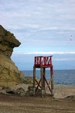 Torre abbandonata di salvataggio Immagini Stock