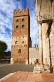 Torre Abbaziale di San Zeno - Verona Italia Foto de archivo libre de regalías