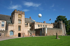 Torre Abbey, Torquay. Balloon over Torre abbey, Torquay Royalty Free Stock Photography