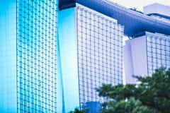 Torre abstracta - Singapur Imágenes de archivo libres de regalías