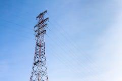 Torre ad alta tensione. Fotografie Stock Libere da Diritti
