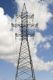 Torre ad alta tensione Fotografie Stock Libere da Diritti